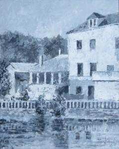 Brantôme - huizen aan de Dronne - Hans van der Vloed
