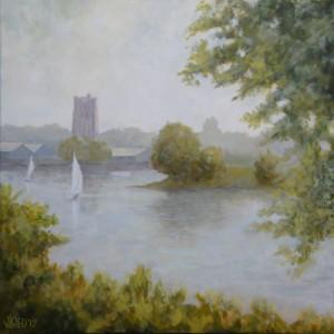 Afgedamde Maas bij Woudrichem - Hans van der Vloed