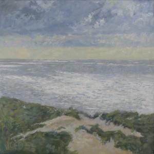 Zeezicht vanaf de duinen - Hans van der Vloed