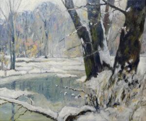 Winterscène (1) - Hans van der Vloed