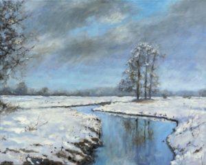 Beeklandschap in de sneeuw - Hans van der Vloed