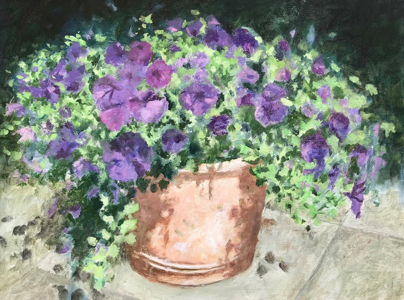 Pot met Petunia's